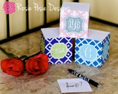 Personalized Monogrammed Note Cube-Design Your Own