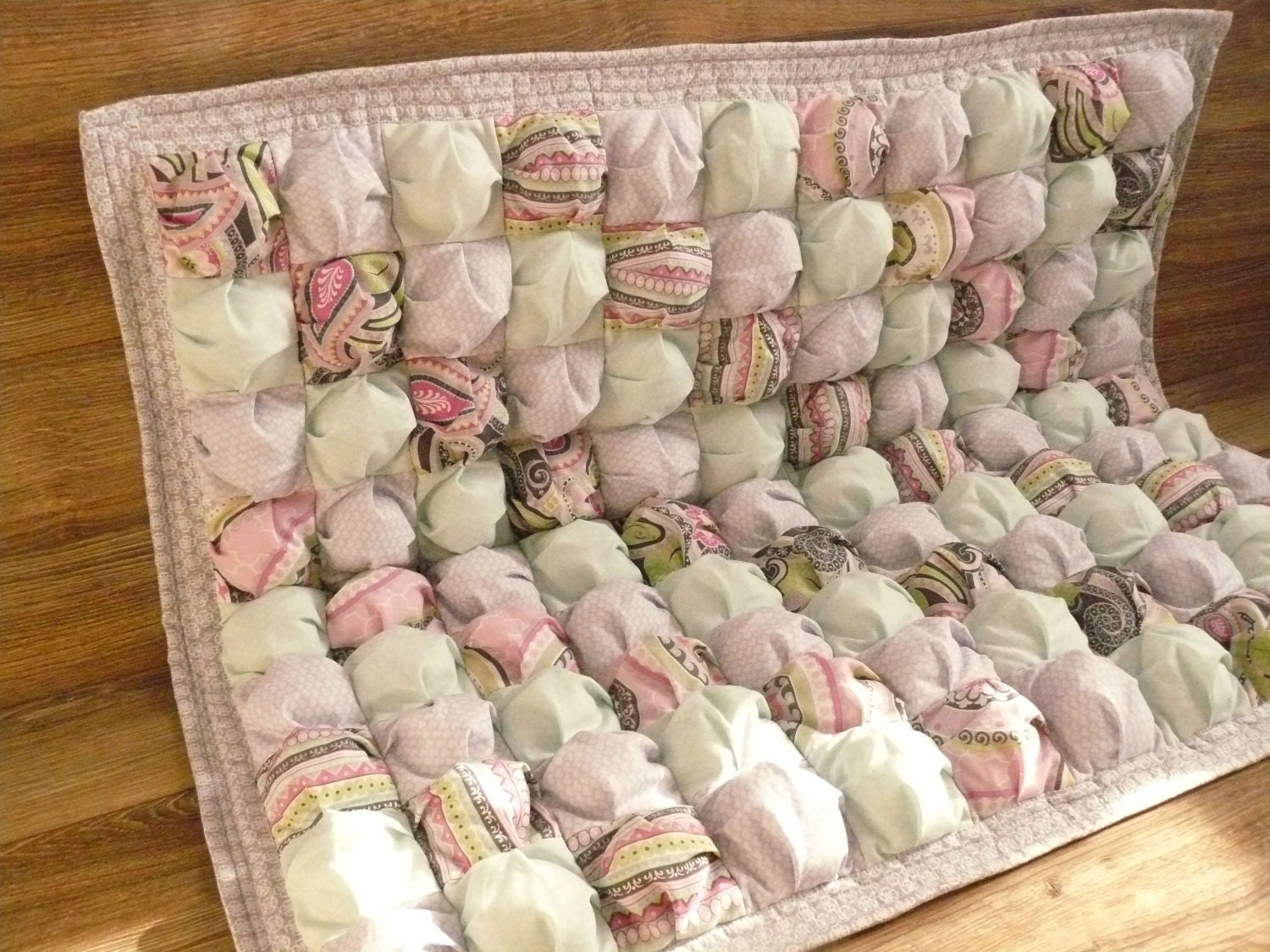 baby quilt baby blanket puff biscuit quilt tummy time