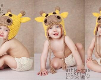 Giraffe Hat Crochet Pattern - Instant Download Crochet Pattern