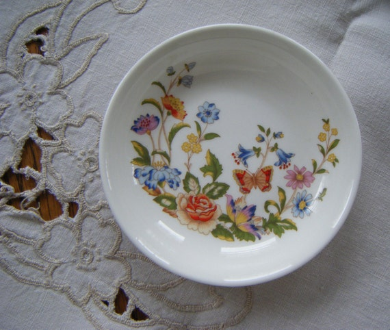 Aynsley Cottage Garden Pin Or Sweet Meat Dish By Onebag On