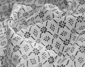 Indian Block Print Cotton Voile: Peony - half metre