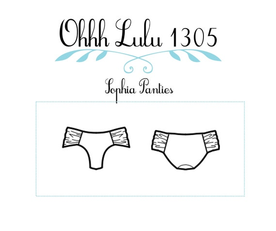 Ohhh Lulu 1305 Sophia Ruched Bikini Panties Multi-size Digital PDF Sewing Pattern