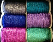 "3/4"" Glitter Ribbon -- 5 yards--Your choice of color(s)"