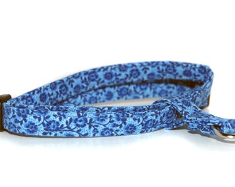 The Figure 8 Cat Harness in Blue Willow by Neck Candy Collars