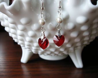 Crystal Heart Earrings