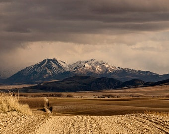 Landscape Print of Mountains   Color Mountain Photography   Western Landscape   Physical Print