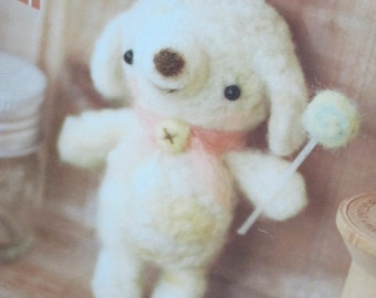 Sales Item - Hamanaka Felt Wool Needle Felting Craft Kit - Sheep
