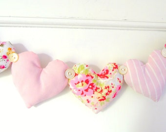 Heart Garland Pretty Florals And Pinks