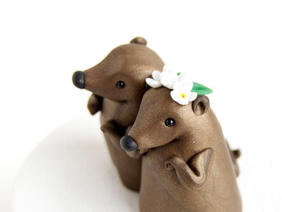 Groundhog Day Wedding Cake Topper By Bonjour Poupette