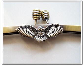 10 inch antique brass owl clutch frame sewing metal purse frame purse making supplies