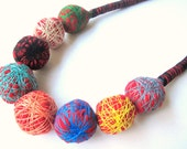 The Perfect Imperfection - Fiber Textile Cotton Statement Handmade Necklace
