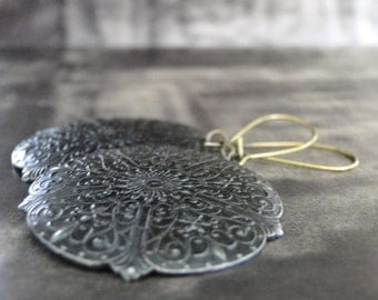 Jewelry, Earrings, Bohemian Statement Earrings, Metal Work, Dangle Earrings, Chic Accessories,