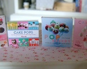 BAKING COOKBOOKS - Cake Pops - Dollhouse Miniature 1/12 Scale