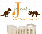 Wall Decal Dinosaurs  Personalized  Vinyl Wall Decal perfect decoration for nursery or playroom-d010913