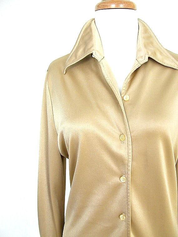 1960 Gold Leotard / 60s bodysuit  / body suit / gold shirt / dance leotard / mr dino / studio 54 / medium large
