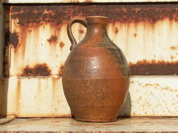 Traditional Wood Fired Stoneware Jug- 1 Quart