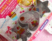Mini Cookie Cutter (3 pcs / Heart, Star & Bear) (around 3cm) Animal Biscuit Cookie Making Bakery Baking Supplies Kawaii Sugar Cookies TL011