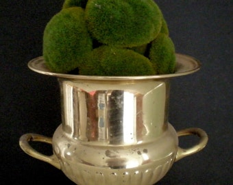 Vintage Brass Champagne Bucket / Planter