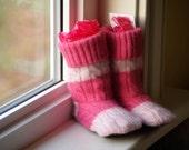Wool Slipper Boots - toddler 7-9 , non slip