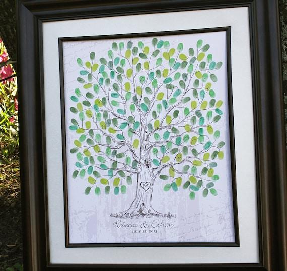 Guest Book Alternative Thumbprint Wedding Tree Fingerprint: Wedding Guest Book Ideas Hand Drawn Wedding Guest Book