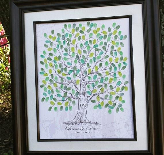 Wedding Tree Guest Book: Wedding Guest Book Ideas Hand Drawn Wedding Guest By