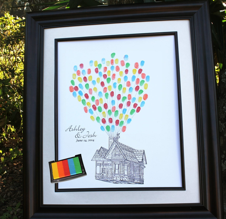Alternative Wedding Gift Ideas : Disney Weddings Up Inspired Wedding Guest Book House with