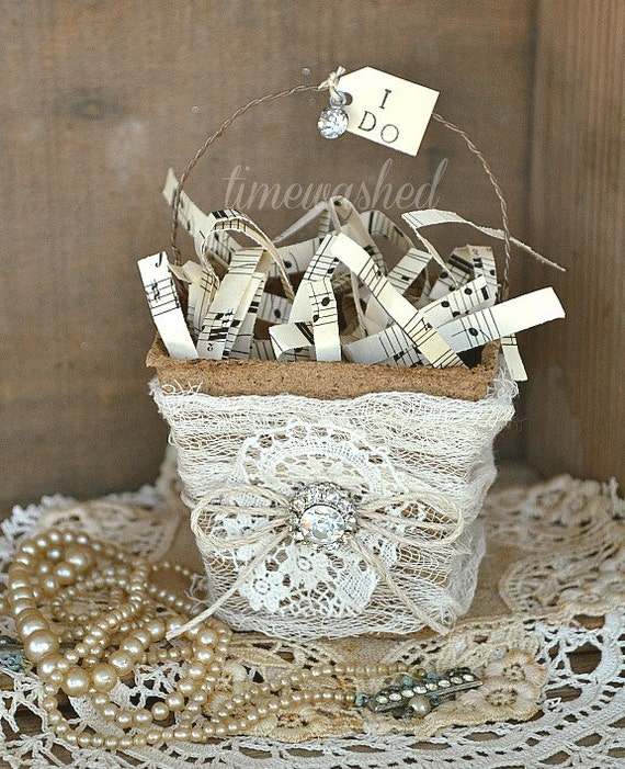 Wedding Decoration Place Card Favor Basket By Timewashed On Etsy