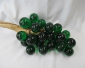 Hold 4 JennW- Grapes Green Lucite Retro Lucite/Acrylic Cluster Eames Era MCM -Gorgeous Vintage 60s Decorator Item