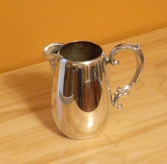 Wm A Rogers Silver Plate Marks: Mid Century Wm Rogers Silverplate Water Pitcher By