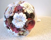 Floral Romance: A Rustic Fairytale Paper Mixed Wildflower Bouquet Ready to Ship