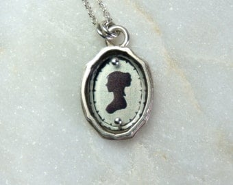 Sterling Silver Empire Silhouette Necklace