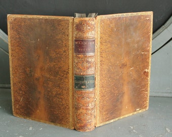 Marmion A Poem in Six Cantos by Sir Walter Scott Antique Leather Bound Book 1884