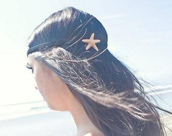 Starfish Headband Mermaid Hair Accessories Sea Star Nautical Hippie Hipster Ariel Costume Beach Beachy Boho Bohemian Wife Womens Gift Summer