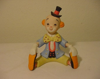 Vintage  Lefton Exclusives Clown Figurine  12 - 523