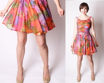 Cocktail Dress / Tropical / Beach / Short Dress / Multicolor / Multi Color / Party Dress / Summer Dress / Dress / Dresses / Fashion / 1003