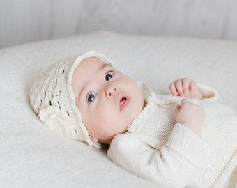 Baptism hat Baby hat Newborn Crochet hat Christening accessorie