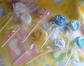 Washcloth Lollipops... Baby Shower Favors...Spa Party...Party Favors...Add a Lollipop :)