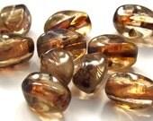 Czech Picasso Glass Twist Beads
