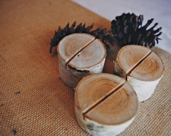 20 Birch Bark Place Card Holders for Weddings, Bridal Showers, Parties Rustic Eco Friendly Cottage Chic