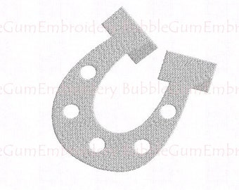 Horseshoe Embroidery Design Instant Download