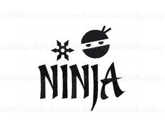 Ninja Embroidery Design Instant Download