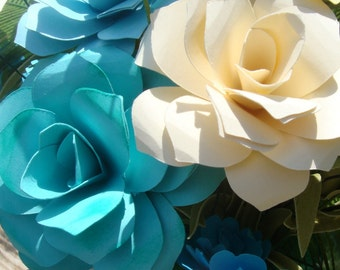 Make your Own Bridal Paper Flower Wedding Bouquet Special Order Pick your Colors
