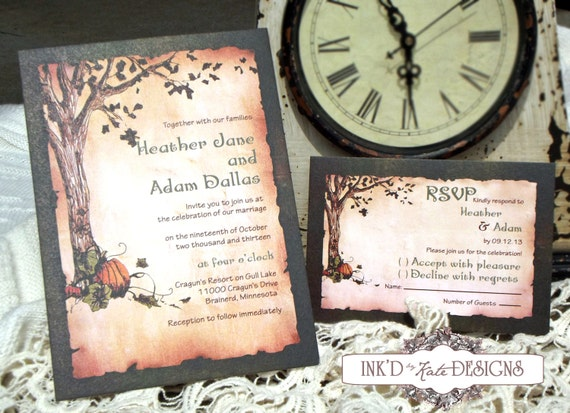 Wedding Invitations Country Theme: Items Similar To Rustic Country Pumpkin Wedding