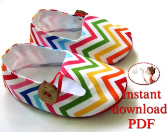 Tutorial and Baby Shoe Pattern -  Baby Tulip Loafers -  PDF Pattern - Newborn to 24 months