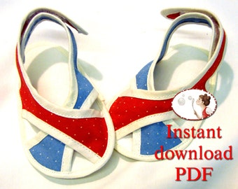 Baby. Sandals. Sewing. Pattern. French Chic sandals - booties - PDF