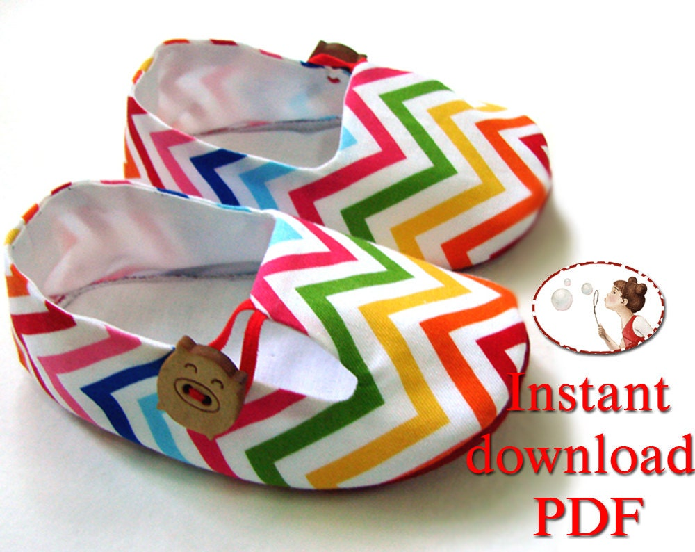 Tutorial and Baby Shoe Pattern Baby Tulip Loafers PDF