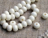 50pcs 8mm Bone Beads Natural White Color Round 16-Inch Strand