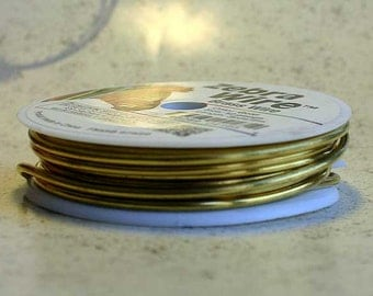 18ga Craft Wire Brass Gold 18 gauge Beading Wire 10 yards Wire Wrapping