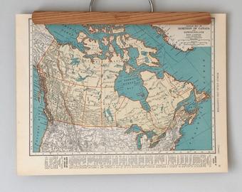 1930s Antique Maps of Canada and Maritime Provinces   Nova Scotia, New Brunswick and Prince Edward Island