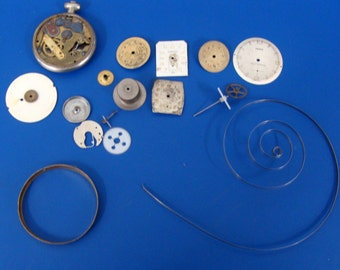 Lot Of Watch Parts For Steam Projects (R)